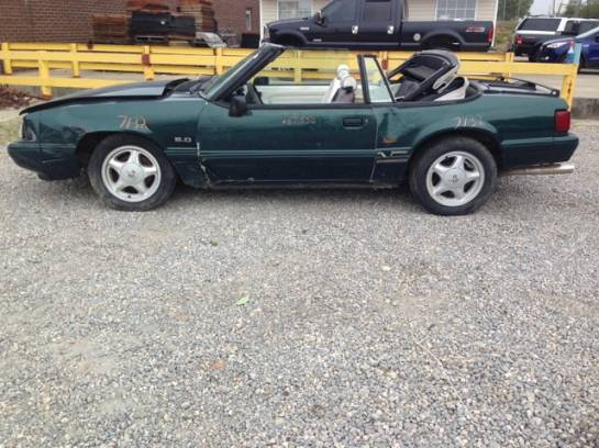 1990 Ford Mustang LX-Green - Image 1