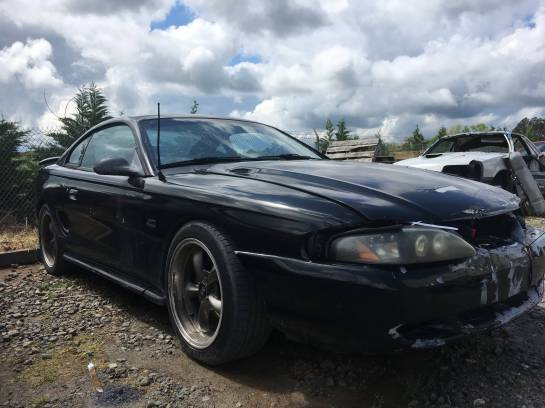 1995 Ford Mustang, 5.0L V8, Manual Transmission, Black/Gray