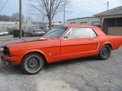 1964-1973 - Parts Cars - 1965 Ford Mustang 200 6cyl - Orange