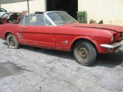 Parts Cars - 1965 Ford Mustang 6-Cyl - Red