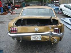 Parts Cars - 1966 Ford Mustang 289 - Gold