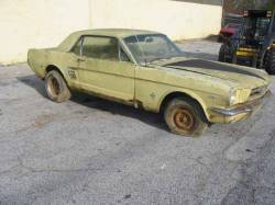 Parts Cars - 1966 Ford Mustang  - Yellow