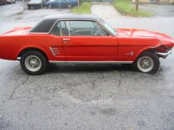 Parts Cars - 1966 Ford Mustang 289 - Red