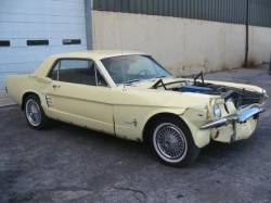 Parts Cars - 1966 Ford Mustang 289 - Springtime Yellow