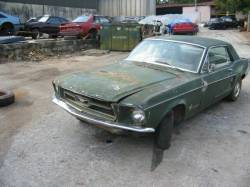 Parts Cars - 1967 Ford Mustang Inline 6 - Green
