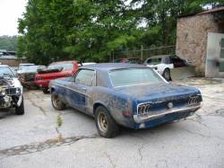 Parts Cars - 1968 Ford Mustang Inline 6 - Blue