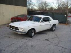 Parts Cars - 1967 Ford Mustang 302 - White