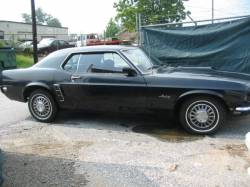 Parts Cars - 1969 Ford Mustang 250 6 Cylinder - Black