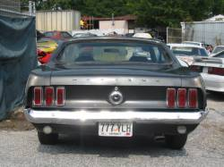 1969 Ford Mustang 250 6 Cylinder - Black