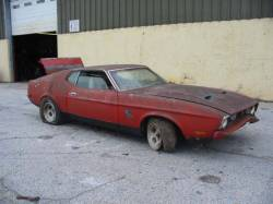 Parts Cars - 1971 Ford Mustang 351C - Red