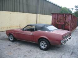 Parts Cars - 1973 Ford Mustang 351C - Red