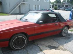 1979-1986 - Parts Cars - 1985 Ford Mustang V6(BLOWN) - Red