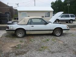 Parts Cars - 1985 Ford Mustang 5.0 - White