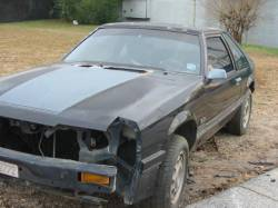 Parts Cars - 1986 Ford Mustang - Black
