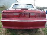 1987 Ford Mustang 5.0 5 Speed - Red/white top - Image 3