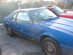 1979-1986 - Parts Cars - 1986 Ford Mustang 5.0 HO - Blue