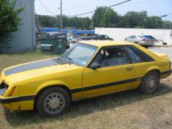Parts Cars - 1986 Ford Mustang 5.0 HO - Yellow