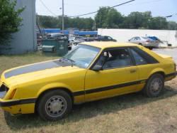 1979-1986 - Parts Cars - 1986 Ford Mustang 5.0 HO - Yellow