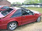 1987 Ford Mustang 5.0 HO T-5 - Red - Image 2