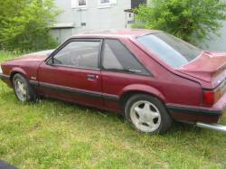 Parts Cars - 1987 Ford Mustang 5.0 HO AOD - Burgundy