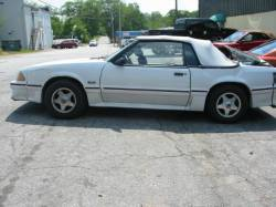 Parts Cars - 1987 Ford Mustang 5.0 T-5 Five Speed - White