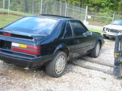 Parts Cars - 1986 Ford Mustang 2.3 L 5 speed - Black