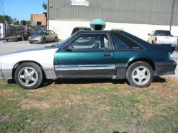 Parts Cars - 1987 Ford Mustang 5.0 T-5 Five Speed - Green & Silver