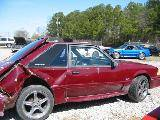 Parts Cars - 1987 Ford Mustang 5.0 HO T-5 Five Speed - Maroon