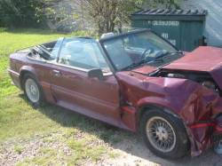Parts Cars - 1988 Ford Mustang 5.0 HO Automatic - Red