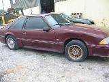 1988 Ford Mustang 5.0 HO Automatic AOD - Burgundy - Image 2