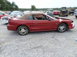 Parts Cars - 1997  Mustang Convertible 4.6 T45 Red