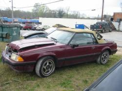 1987-1993 - Parts Cars - 1989 Ford Mustang 4-cyl AOD E - Burgundy