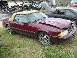 1989 Ford Mustang 4-cyl AOD E - Burgundy - Image 2