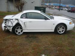 1999-2004 - Parts Cars - 1999 Ford Mustang Coupe White 4.6 T45