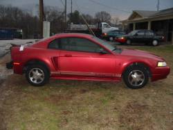 1999-2004 - Parts Cars - 2000 Ford Mustang Coupe 3.8L  AODE Transmission- Red