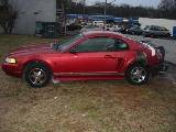 2000 Ford Mustang Coupe 3.8L AODE Transmission- Red - Image 2