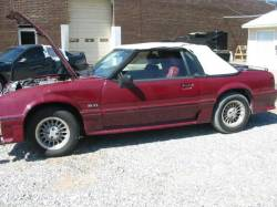 1989 Ford Mustang 5.0 HO AOD Automatic - Burgundy - Image 1