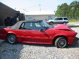 1989 Ford Mustang 5.0 AOD Automatic - Red - Image 2