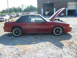 1987-1993 - Parts Cars - 1989 Ford Mustang 4.6 L V8 5 Speed - Red