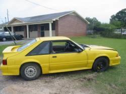 1990 Ford Mustang NO GOOD T-5 - Yellow - Image 1