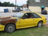 1990 Ford Mustang NO GOOD T-5 - Yellow - Image 2