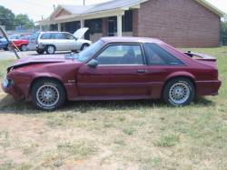 1990 Ford Mustang 5.0 5-Speed - Burgundy - Image 1