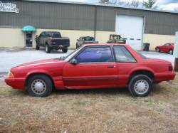 1990 Ford Mustang 4-Cyl Automatic - Red - Image 1
