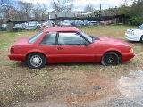 1990 Ford Mustang 4-Cyl Automatic - Red - Image 2