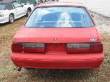1990 Ford Mustang 4-Cyl Automatic - Red - Image 5