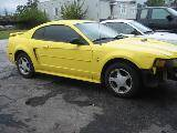 2002 Ford Mustang V-6 Automatic AOD-E- Yellow - Image 2