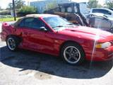 1995 Ford Mustang 5.0 Automatic-AODE - Red - Tan Top - Image 2