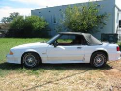 Parts Cars - 1990 Ford Mustang 5.0 HO T-5 Five Speed - White