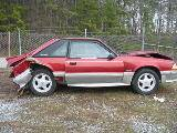 1990 Ford Mustang 5.0 HO T-5 Five Speed - Red & Silver - Image 2