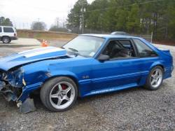 1990 Ford Mustang 5.0 HO T-5 Five Speed - Blue & Silver - Image 1